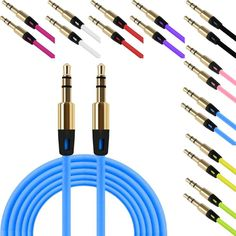 HL 2017 3.5mm Auxiliary Cable Audio Cable Male To Male Flat Aux Cable EF15
