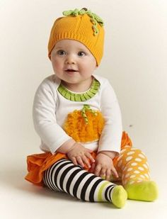 Girls Mud Pie Pumpkin Skirt Set