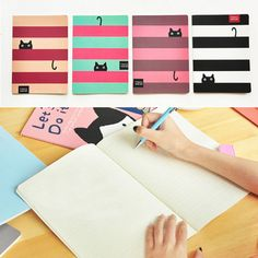 Student Diary Note Book Happy Cat Stationery Large Notepad Journal Writing Memo | eBay