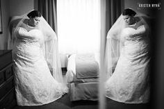 Beautiful bride Hayley!  Photo from Kristen Wynn Photography.