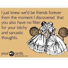 I hope my friends like me as the crazy friend! lol