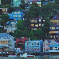 Sausalito, CA...this little village across the bay reminded me of a Greek Fishing Village...very quaint! -Teresa