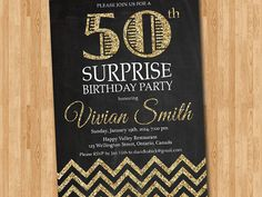 Hey, I found this really awesome Etsy listing at https://www.etsy.com/listing/181182886/50th-birthday-invitation-for-women-gold