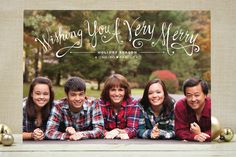 plaid shirts, great writing for Christmas card