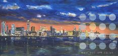 liverpool waterfront at night by roy munday Liverpool Waterfront, Limited Edition Prints, Original Art, Night, City, Painting, Inspiration, Biblical Inspiration, Painting Art