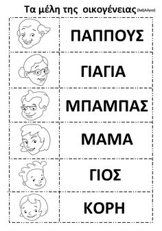"""Η παρούσα ανάρτηση αποτελεί τη συνέχεια των προηγούμενων αναρτήσεων για το θέμα : """"Η οικογένεια"""" που επεξεργαζόμαστε κάθε χρόνο... My Family, Home And Family, Learn Greek, Greek Language, Animal Crafts For Kids, Catechism, School Organization, Thats Not My, Kindergarten"""