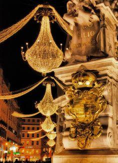 crystal chandeliers!!!!  My kind of street!