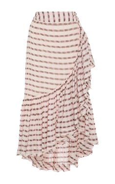 Gretchen High-Rise Cotton Wrap Skirt by ULLA JOHNSON Now Available on Moda Operandi