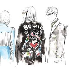 Instagram photo by mekel_illustration - For all the Bowie lovers out there ❤️ Bowie x Gucci  Original photo by @scandebergs for @luomovogue . . #guccifw16 #fashionweek #gucci #bowiecardigan #alessandromichele #bowie #bowietribute #davidbowie #milanfashionweek #milano #mfw16 #mfw #mensfashionweek #bowiegucci #gucciBowie #bowiejacket