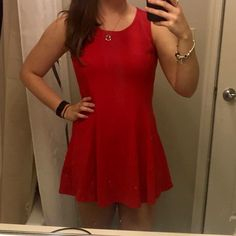 30% off bundles Forever 21 red fit+flare dress Forever 21 short, red, fit and flare dress. Size medium. Bundle to save! Forever 21 Dresses Mini