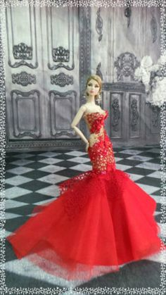 PKPP-575-Fashion-royalty-Silkstone-Mermaid-Dress-Gown-Outfit-for-dolls-12
