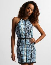 Vestido Queen's Frente Única - Preto+Azul