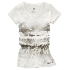 Timberland - Women's Earthkeepers® Mountain Escape T-Shirt Picket Fence