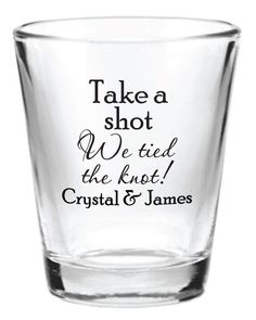 144 Custom 1.5oz Wedding Favor Glass Shot Glasses Personalized NEW 2015 Wedding Favors by Factory21 on Etsy