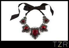 Lanvin Crystal Ribbon Necklace | The Zoe Report