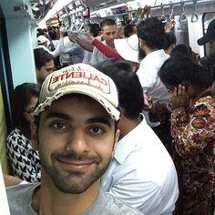 Mansoor bin Mohammed bin Rashid Al Maktoum, en el Metro, 19/07/2014. Vía:  @mansoorbinmohammed