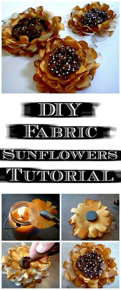 50 Easy Fabric Flowers Tutorial - Make Your Own Fabric Flowers - Page 3 of 10 - DIY & Crafts