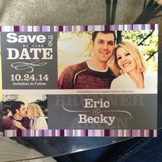 #LoveMSW my save the date card! {Striped Glory Premier Size Save the Date Card}
