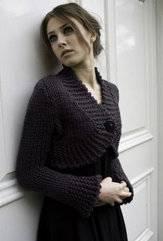 "Kim Hargreaves - ""Cherish"" - nice bulky cardi/shrug.  Made this for Caroline"