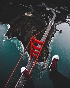 Some people are just not afraid of heights  | Golden Gate Bridge |  Jude Allen Photography Say Yes To Adventure