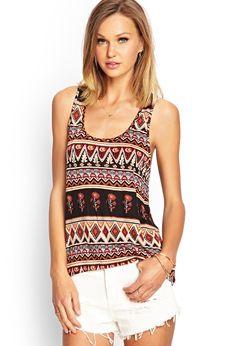 Knit Tribal Print Tank   FOREVER21 #F21FreeSpirit #SummerForever