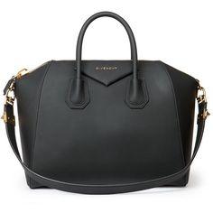 Givenchy Antigona Medium Faux-Leather Satchel ($2,090) ❤ liked on Polyvore featuring bags, handbags, purses, accessories, bolsas, black, apparel & accessories, vegan leather purse, givenchy purse en satchel handbags