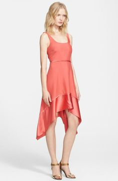 Perfect for a Valentine's Day picnic - soft coral silk dress