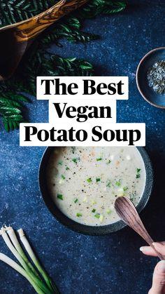 Vegetarian Types, Vegetarian Soup, Vegetarian Options, Vegetarian Recipes Dinner, Vegan Recipes Easy, Gluten Free Recipes, Diet Recipes, Vegan Potato Soup, Veggie Soup