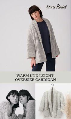 Selbstgemachte schlichte und puristische DIY-Strickmode. Jetzt dein Lieblingsmodell finden, Wolle aussuchen und losstricken!  #diy #wolle #stricken #anleitung    #cardigan #pulli #pullover
