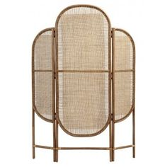 Nordal Natural Rattan Room Divider from Accessories for the Home Rattan, Black Daybed, Panel Room Divider, Room Dividers, Brass Hinges, Room Screen, Interior Design Business, Decorative Panels, Decoration Design