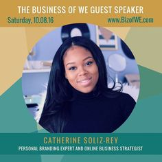 Today we are so excited to announce... Catherine Soliz-Rey as one of our speakers for The Business of WE 2016 Summit! Catherine or @fearlesscatherine is your NO B.S. personal branding expert online business strategist and self-development enthusiast. Her mission is to help women fearlessly monetize and market their message and expertise online  all while becoming their fiercest selves. She is a certified speaker creator of Fierce Hustler Brand where she reaches tens of thousands of followers…