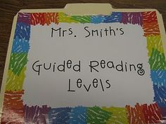 good blog with tips on setting up guided reading notebook and some downloadable forms
