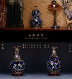 Description Name:carved blueceramic vase Style:ancient chinese style Crafts:under glazed Made in Jingdezhen Brand:enhancement Material:ceramic Function:home decoration, wedding gifts, gift of birthday present, housewarming, new home decoration, window display, store display ark, shooting props, lovers valentine's day gifts, collection model, etc 1300 degrees high temperature burning gorgeous colour never fade out,it can keep for thousands of ...