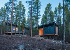 Students in a design-build program at the University of Colorado Denver have completed a series of modern, rustic cabins for Outward Bound