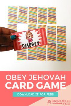 Here's a fun card game for the little ones! Its called the Obey Jehovah card game and it's super super simple to play! #jw