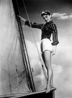 Audrey in the movie Sabrina