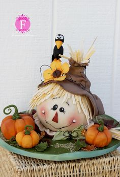 Fall ~ Scarecrow Ball Cake Tutorial
