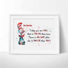 Dr. Seuss Quote Nursery Art Print Wall Decor Boy or Girl