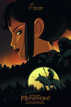 Princess Mononoke by Handy Kara - Home of the Alternative Movie Poster -AMP-
