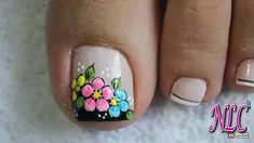Nail Art, Floral, Sour Cream, Work Nails, Enamel, Toenails Painted, Pretty Toe Nails, Polish Nails, Cute Nails