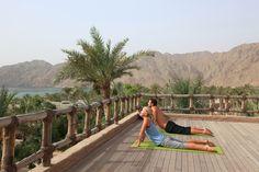 Morning yoga at Six Senses Spa Zighy Bay
