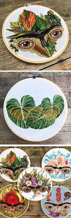Embroidery by Jess de Wahls // hoop art
