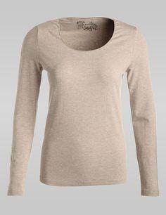 Vielseitiges Basic-Shirt,sand melange,large