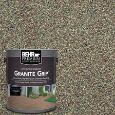 Concrete Floor Coatings, Concrete Bricks, Stained Concrete Driveway, Broken Concrete, Garage Floor Coatings, Flat Interior, Interior And Exterior, Exterior Paint, Gray Exterior