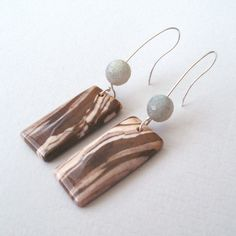 Sterling Silver Jasper and Labradorite Drop Earrings by TemporalFlux on Etsy