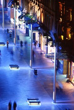 Buchanan street, Glasgow, Grande Bretagne - Conception lumière : Speirs + Major - Photo : Paul Bock