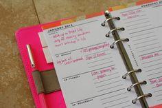 free personal size planner filofax printable Week Planner, Planner Diy, Daily Planner Printable, Erin Condren Life Planner, Day Planners, Planner Ideas, Calendar Organization, Organising, Filofax