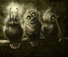 Owls by n-a-S-t-u on deviantART