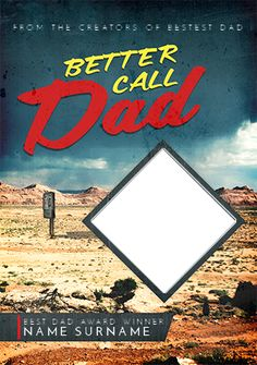 TV Boxset Spoof - Better Call Dad Father's Day Personalised Greetings Card Idea