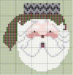 Schema punto croce Guanto-babbo-natale